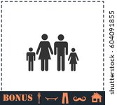 family icon flat. simple... | Shutterstock . vector #604091855