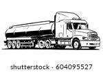 american tanker semi truck...   Shutterstock .eps vector #604095527