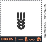agriculture icon flat. simple... | Shutterstock . vector #604096325