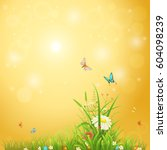 bright summer background with... | Shutterstock .eps vector #604098239