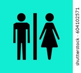 male and female sign isolated | Shutterstock .eps vector #604102571