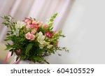 beautiful decorative bouquet of ... | Shutterstock . vector #604105529
