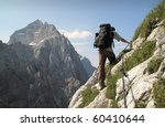trekking on sierra trail in... | Shutterstock . vector #60410644