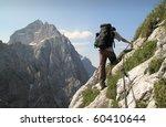 trekking on sierra trail in... | Shutterstock . vector #60410644