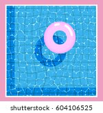 surface of the water with a... | Shutterstock .eps vector #604106525