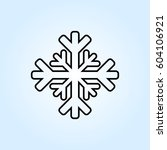 snow icon | Shutterstock .eps vector #604106921