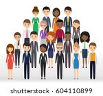 icons business people flat... | Shutterstock .eps vector #604110899