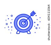 thought right on target metaphor | Shutterstock .eps vector #604111064