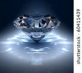 diamond jewel on blue background | Shutterstock . vector #60411439