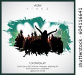 silhouette of dancing people | Shutterstock .eps vector #604116641