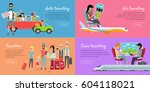 auto  air  train travelling and ... | Shutterstock .eps vector #604118021