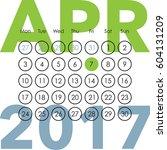 calendar for 2017. april. a...