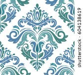 classic seamless vector pattern.... | Shutterstock .eps vector #604138619