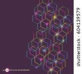 hexagonal geometric background. ... | Shutterstock .eps vector #604139579