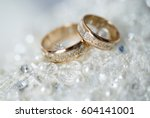 wedding rings | Shutterstock . vector #604141001
