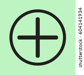 plus icon  positive symbol... | Shutterstock .eps vector #604141934
