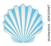 shells in blue tones vector...   Shutterstock .eps vector #604143467