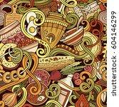cartoon cute doodles hand drawn ... | Shutterstock .eps vector #604146299