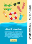 beach vacation banner. sea... | Shutterstock .eps vector #604148831