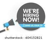 hand holding megaphone. speech... | Shutterstock .eps vector #604152821