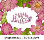 happy birthday  vector... | Shutterstock .eps vector #604158095