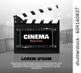 online cinema background with... | Shutterstock .eps vector #604160837