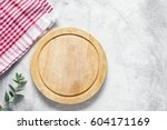 old pizza board and kitchen red ... | Shutterstock . vector #604171169