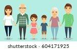 strong family. all family... | Shutterstock .eps vector #604171925
