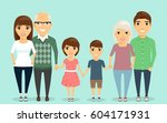 close knit family. grandparents ... | Shutterstock .eps vector #604171931