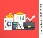 investment  banking concepts.... | Shutterstock .eps vector #604175321