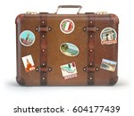 Vintage Suitcase With Travel...