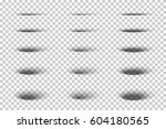 set of vector oval gray shadows ... | Shutterstock .eps vector #604180565