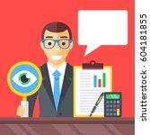 accounting  financial adviser ... | Shutterstock .eps vector #604181855
