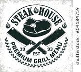 vintage barbecue restaurant... | Shutterstock .eps vector #604184759