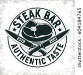 vintage barbecue restaurant... | Shutterstock .eps vector #604184765