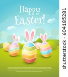 vector greeting card with title ... | Shutterstock .eps vector #604185281