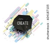 vector modern poster with...   Shutterstock .eps vector #604187105