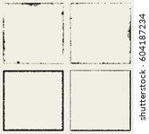 grunge square frame border... | Shutterstock .eps vector #604187234