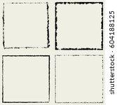 grunge square frame border... | Shutterstock .eps vector #604188125