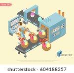 conveyor system in flat design...   Shutterstock .eps vector #604188257