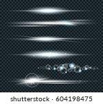 vector set of glow lightning...   Shutterstock .eps vector #604198475