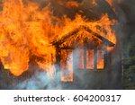 Burning House. Single Family...