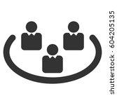 social networks vector icon.... | Shutterstock .eps vector #604205135