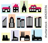 set of buildings | Shutterstock .eps vector #60420556