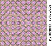 seamless green and pink pattern.... | Shutterstock . vector #604217201