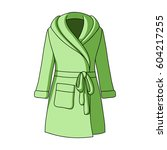 green lady's gown after bath.... | Shutterstock .eps vector #604217255