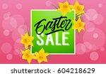 easter sale lettering  frame