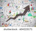 arrow people. 3d rendering | Shutterstock . vector #604223171