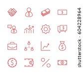 set of business vector line... | Shutterstock .eps vector #604228964