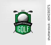 golf label. sign of golf... | Shutterstock .eps vector #604230371